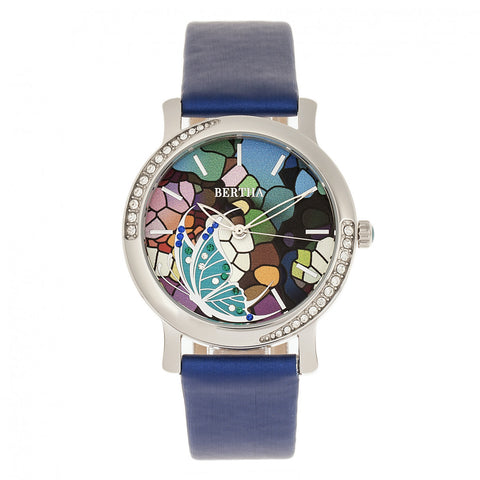 Bertha Vanessa Leather Band Watch  - Blue BTHBR8703