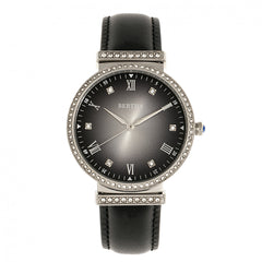 Bertha Allison Leather-Band Watch - Black
