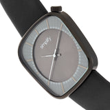 Simplify The 6800 Leather-Band Watch - Black/Charcoal SIM6804