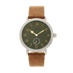 Elevon Northrop Leather-Band Watch - Camel/Green