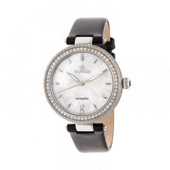Empress Louise Mother-Of-Pearl Leather-Band Watch - Silver