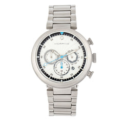 Morphic M87 Series Chronograph Bracelet Watch w/Date - Silver/White