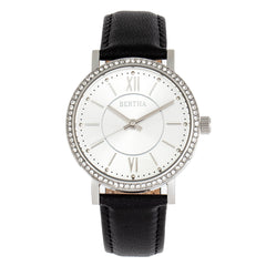 Bertha Lydia Leather-Band Watch - Black