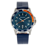 Breed Revolution Leather-Band Watch w/Date - Navy BRD8306