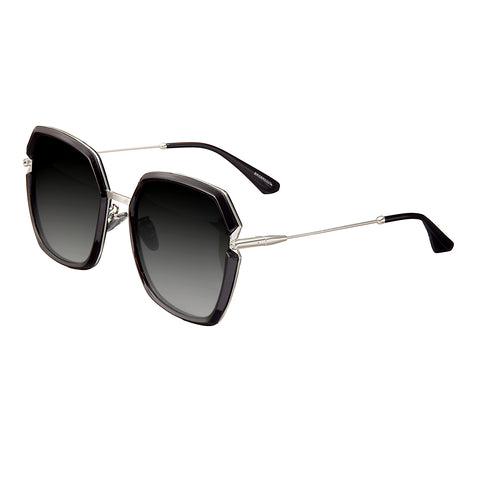 Bertha Teagan Polarized Sunglasses - Black/Silver BRSBR033SL