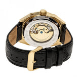 Heritor Automatic Oxford Semi-Skeleton Leather-Band Watch - Gold/Black HERHR5504