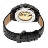 Heritor Automatic Oxford Semi-Skeleton Leather-Band Watch - Black HERHR5506