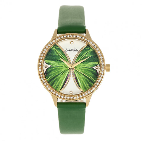 Sophie & Freda Rio Grande Leather-Band w/Swarovski Crystals - Gold/Green SAFSF4605
