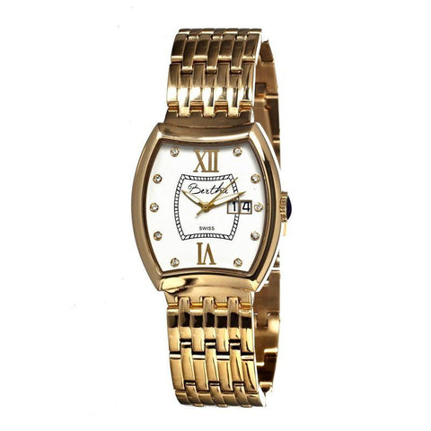 Bertha Charlotte Ladies Swiss Bracelet Watch - Gold/White BTHBR3103