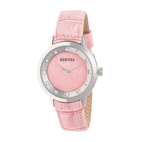 Bertha Cecelia Leather-Band Watch - Pink BTHBR7502