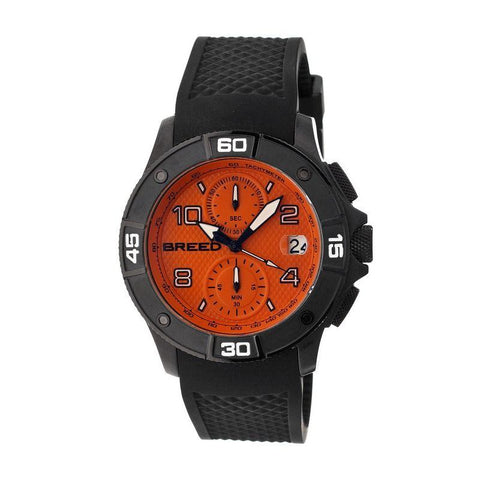 Breed Raylan Chronograph Men's Watch w/ Date-Black/Orange BRD5808