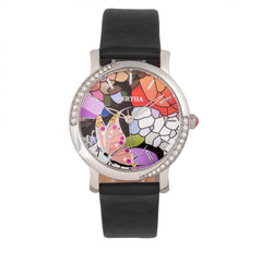 Bertha Vanessa Leather Band Watch -  Black