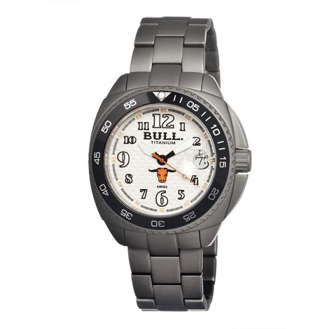 Bull Titanium Matador Men's Swiss Bracelet Watch - White BULMD001