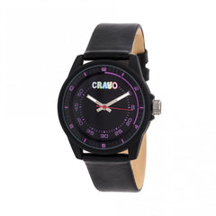 Crayo Jolt Leatherette Strap Watch - Black