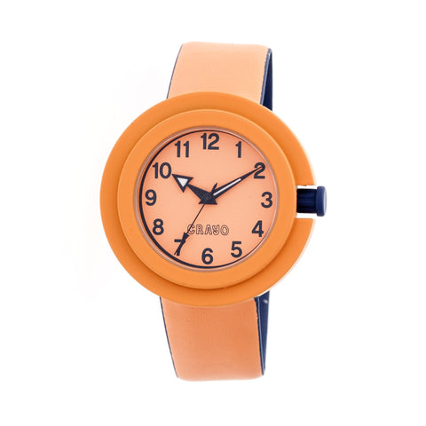 Crayo Equinox Unisex Watch - Orange/Navy CRACR2802