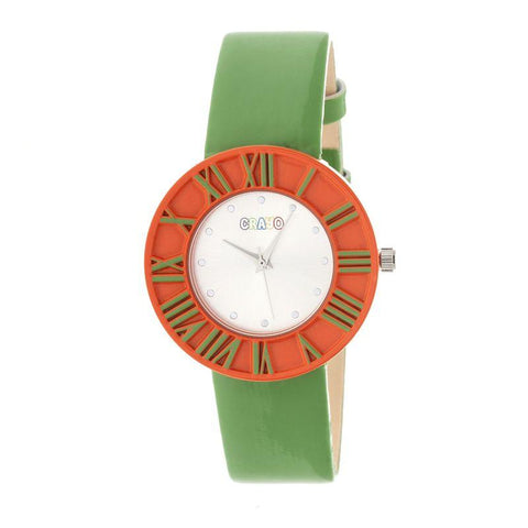 Crayo Prestige Unisex Watch - Orange/Green CRACR3103