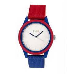 Crayo Pleasant Quartz Watch - Red/Blue