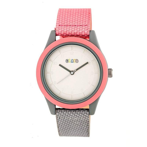 Crayo Pleasant Quartz Watch - Light Pink/Grey CRACR3907