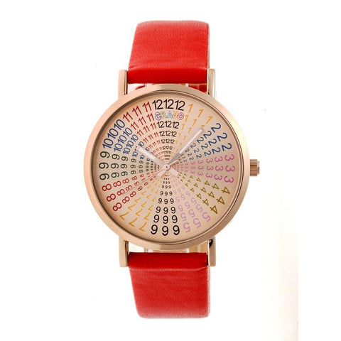 Crayo Fortune Strap Watch - Rose Gold/Red CRACR4305