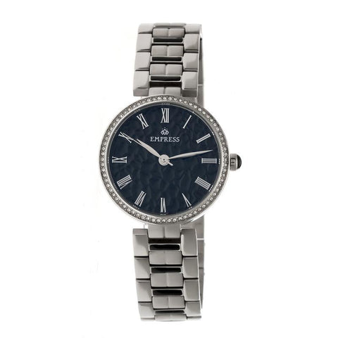 Empress Catherine Automatic Hammered Dial Bracelet Watch - Black EMPEM1902