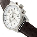 Morphic M67 Series Chronograph Leather-Band Watch w/Date - Silver/Brown MPH6702