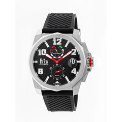 Reign Zhu Automatic Watch w/Magnified Date - Silver/Black
