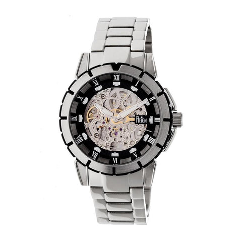 Reign Philippe Automatic Skeleton Bracelet Watch - Silver/Black REIRN4602
