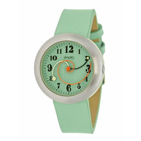 Simplify The 2700 Leather-Band Watch - Seafoam SIM2705
