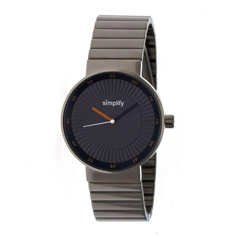 Simplify The 4600 Bracelet Watch - Charcoal/Camel SIM4606