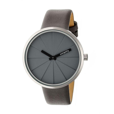 Simplify The 4000 Leather-Band Watch - Grey SIM4004