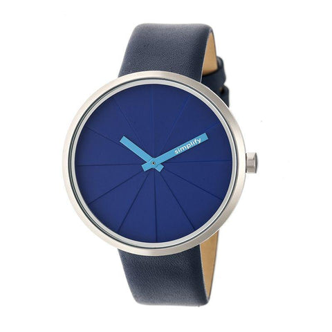 Simplify The 4000 Leather-Band Watch - Blue SIM4005