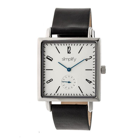 Simplify The 5000 Leather-Band Watch - Black/White SIM5001