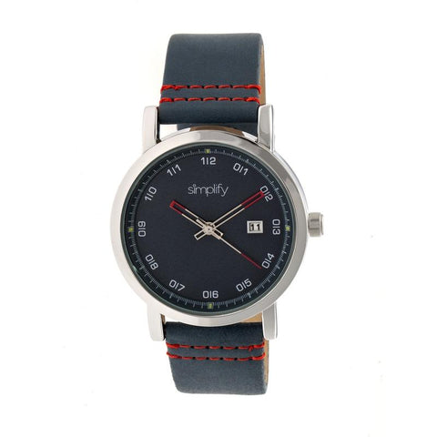 Simplify The 5300 Strap Watch - Silver/Blue SIM5303