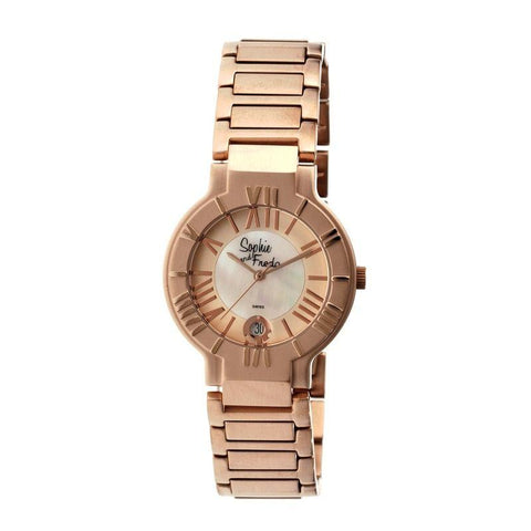 Sophie & Freda Rushmore MOP Ladies Bracelet Watch - Rose Gold SAFSF1204