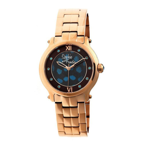 Sophie & Freda Siena Ladies Bracelet Watch - Rose Gold SAFSF2604