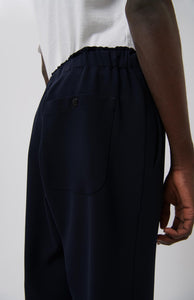 Elastic Waist Trousers - Navy