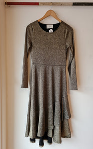 Just Female Gold Dress - XSmall and Small