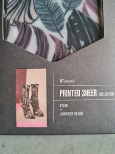 Printed Sheer Socks - One Size