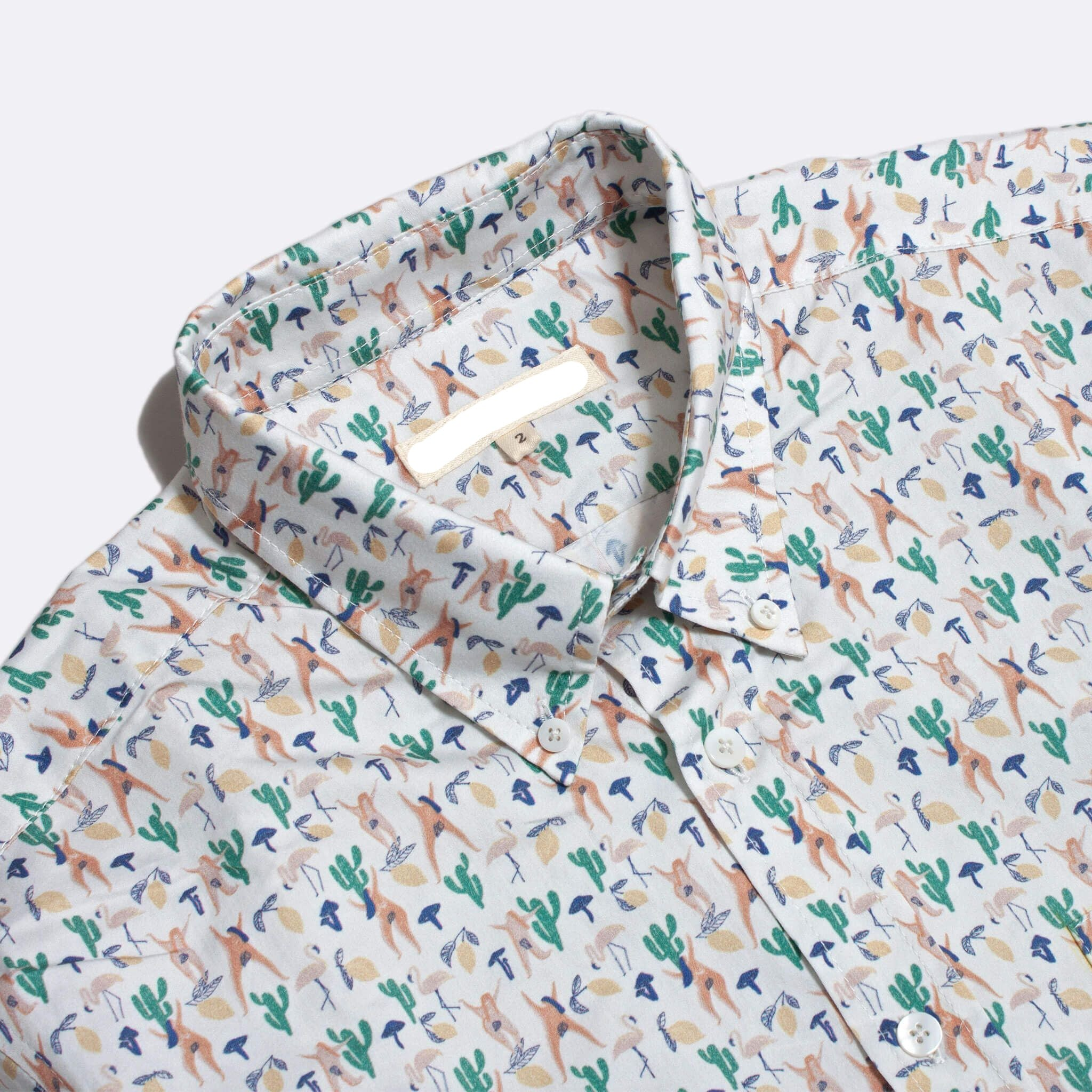 Short Sleeved Shirt - Hippie Print