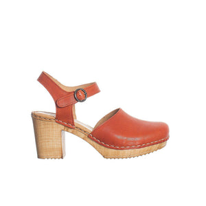 Heeled Clogs - Spiced Orange
