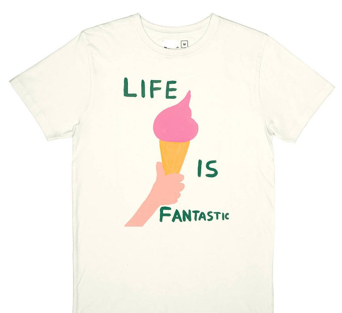 'Life Is Fantastic' Tshirt by David Shrigley