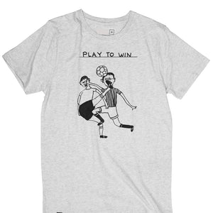 'Play To Win' Tshirt by David Shrigley