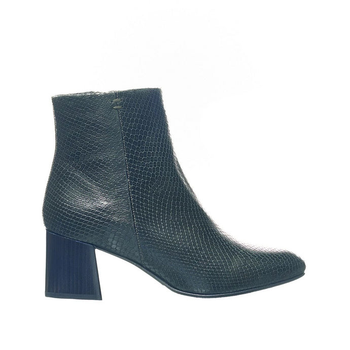 Leather Heeled Boot - Dark Green