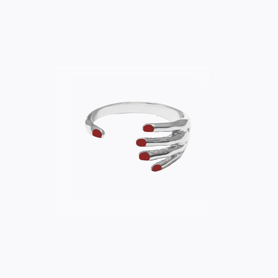 White Gold Hand Ring
