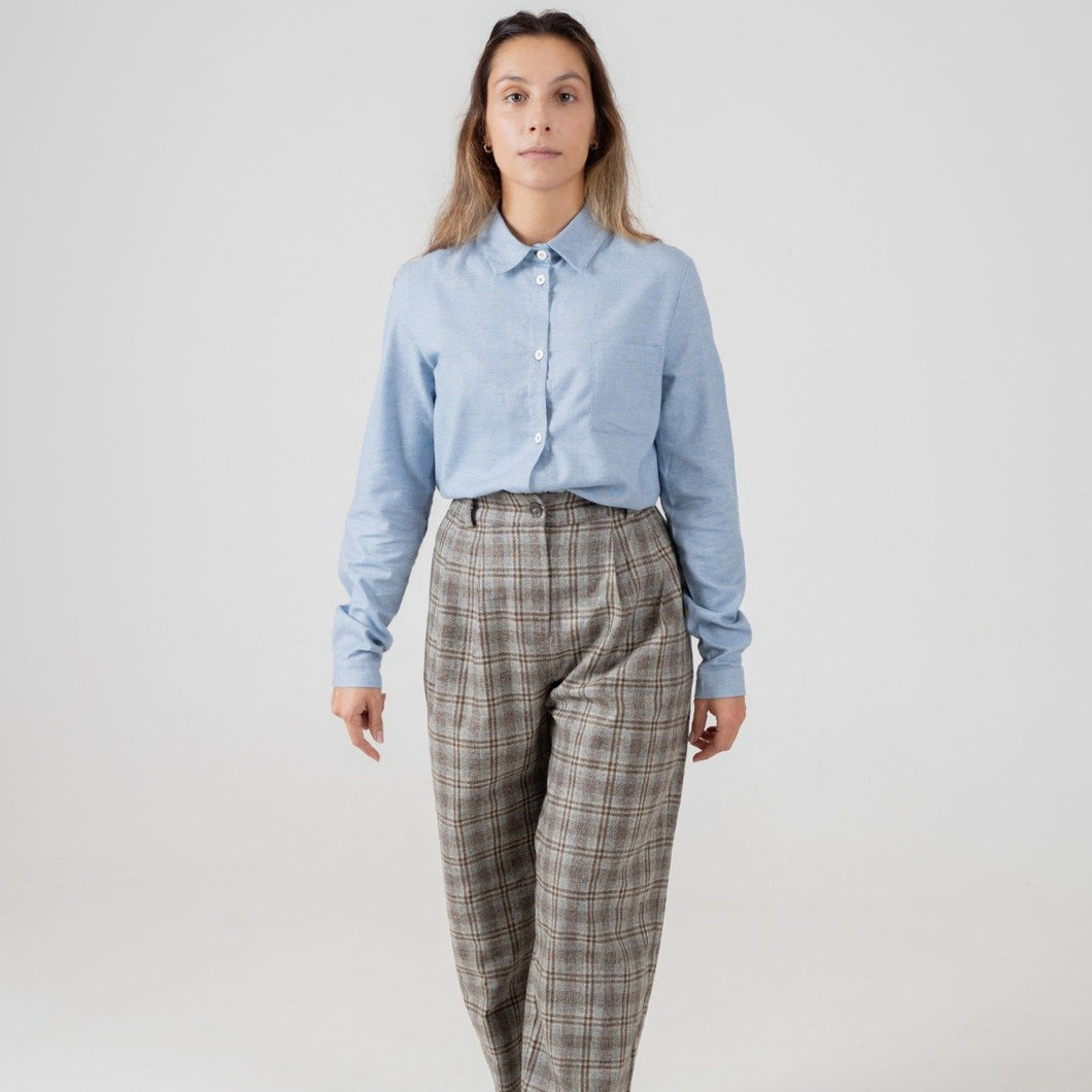 Check Trousers- Grey