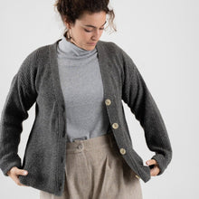 Button Knit - Grey Green