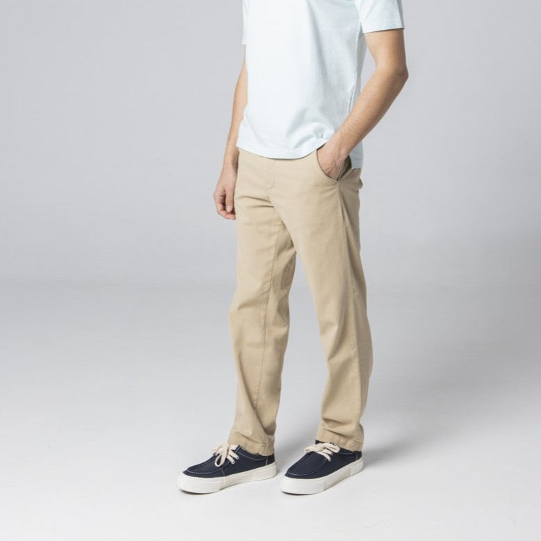 High-Rise Chino trousers - Beige