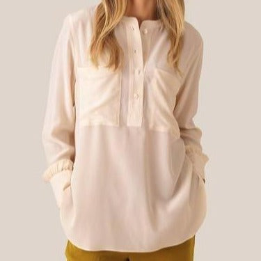 Silk Pocket Top