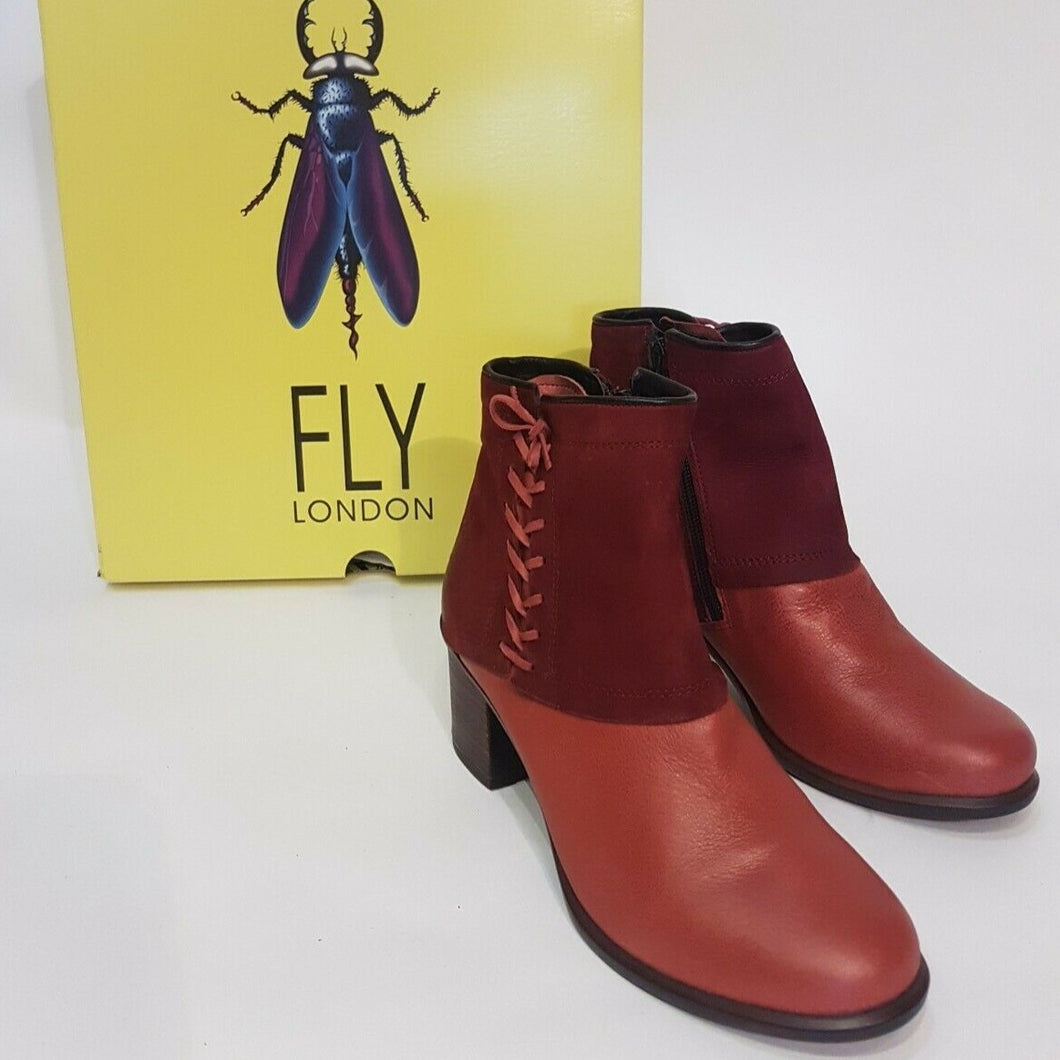 Fly London Leather Boots - Size 38