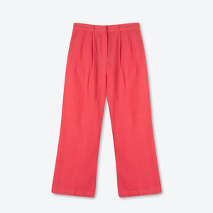 Cropped Wide Leg Pant - Pink